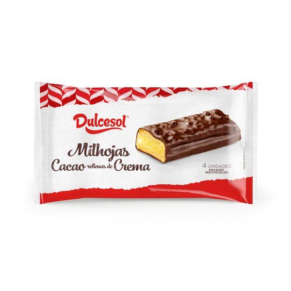 Milhojas cacao y crema