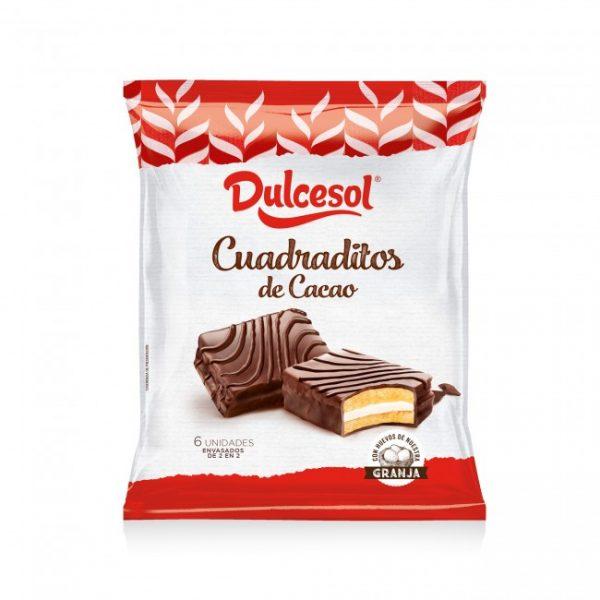 Cuadraditos Cacao 6u