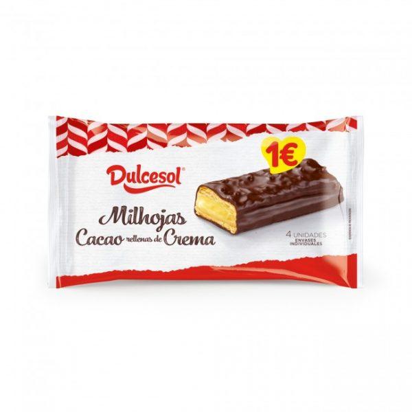 Milhojas cacao y crema 4u