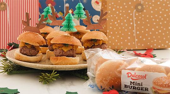 Minihamburguesas de chutney navideñas