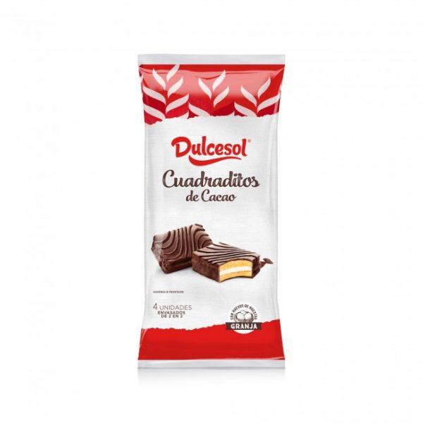 Cuadraditos Cacao 4u