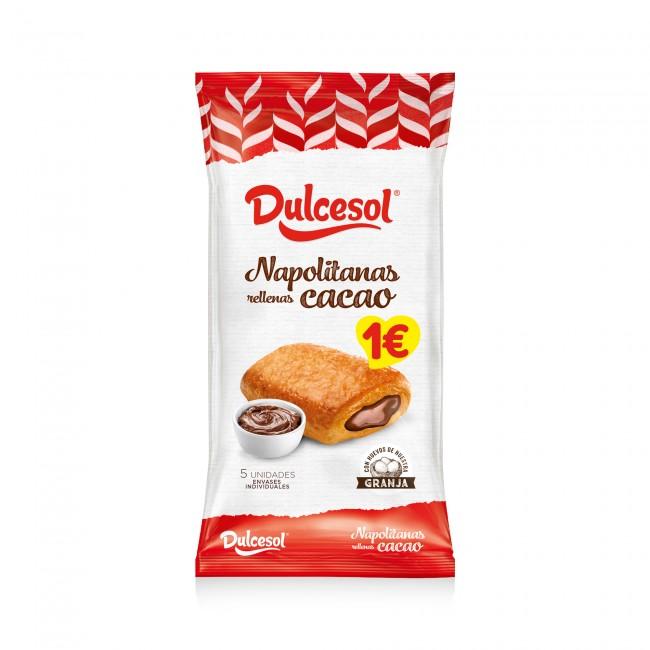 Napolitanas cacao 5u