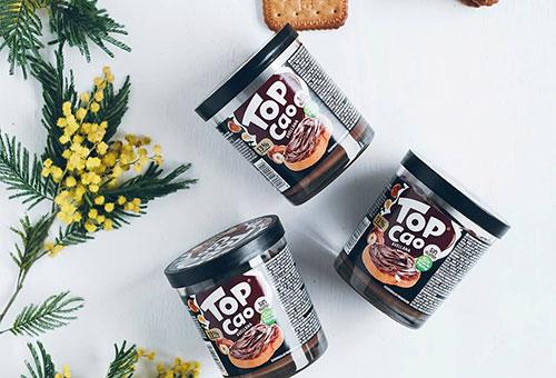 Deliciosa estrella de hojaldre con crema de cacao Top Cao Dulcesol