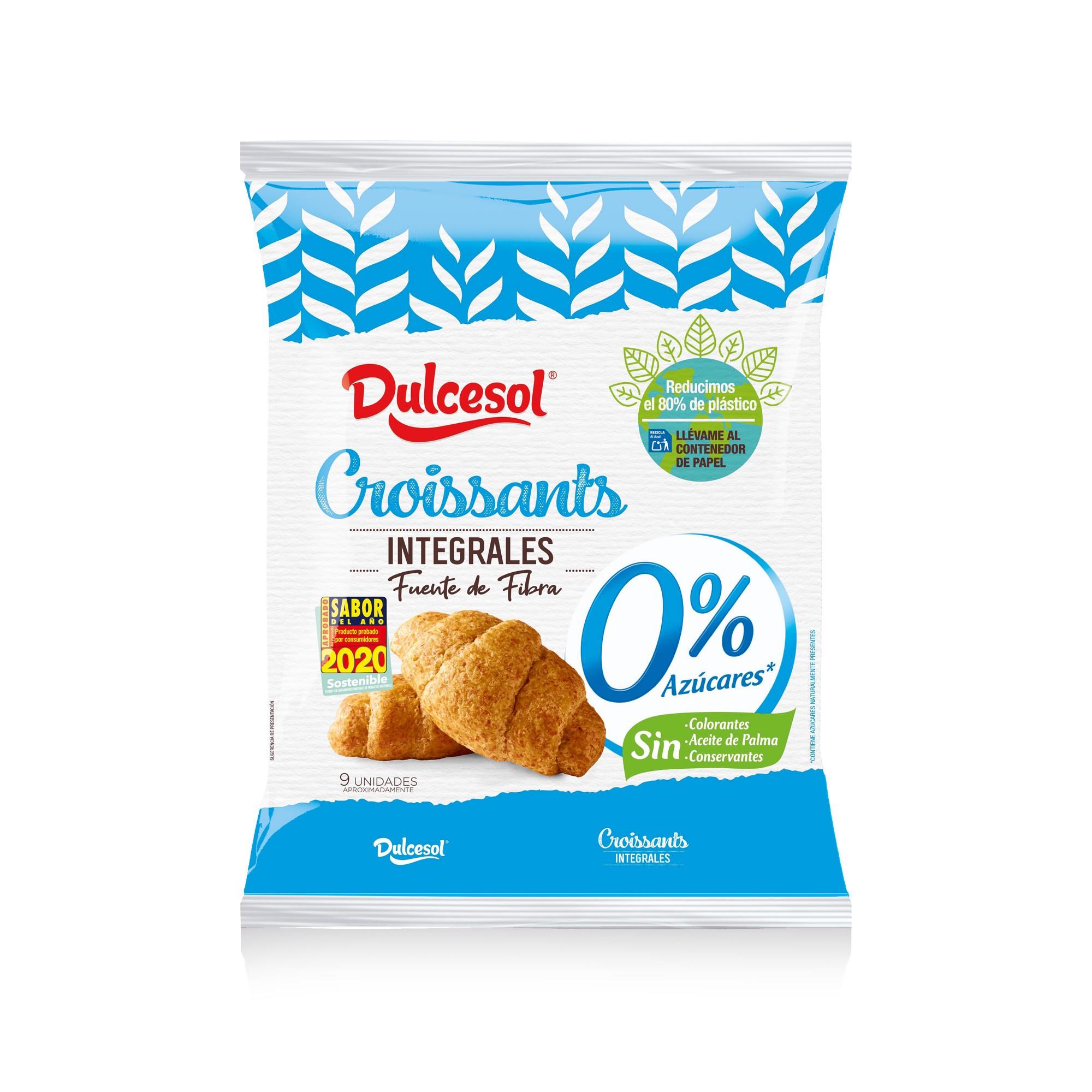 Croissant de trigo integral sem adição de açúcar