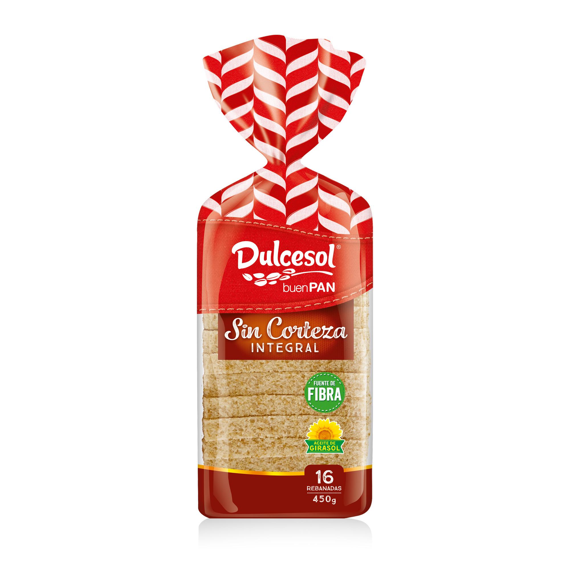 Pan integral sin corteza 450g